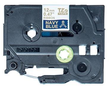 TZe-RN34 printer guld tekst på marineblåt bånd