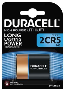 Duracell Ultra Photo 2CR5 (245) Battery, 1pk
