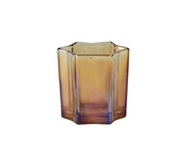 Image of   Fyrfadsstage - Glas - Amber -