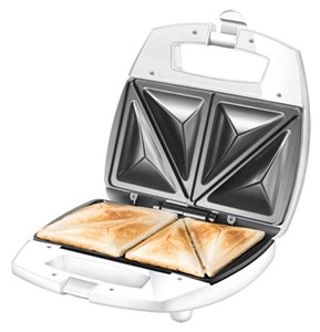 Image of   48421 sandwichtoaster 750 W Rustfrit stål, Hvid