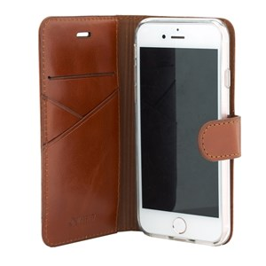 Valenta Booklet Premium Brown iPhone SE/5/5S