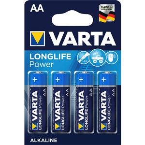 Image of   1x4 High Energy AA LR 6 Engangsbatteri Alkaline