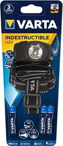 Image of   INDESTRUCTIBLE H20 Hovedbånd lommelygte Sort LED