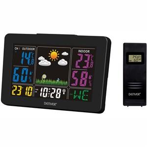 Väderstation med klocka/alarm