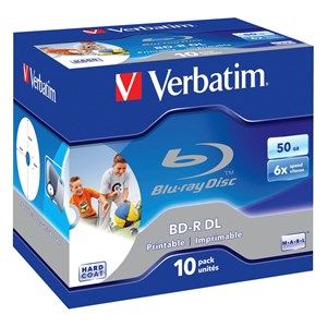 Image of   43736 blank Blu-ray disk BD-R 50 GB 10 stk