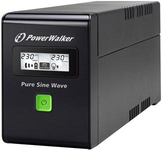 VI 600 SW, 2x Schuko outlets, 600VA,no fan, 0,60 OPF,black