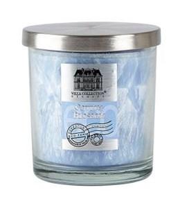 Image of   Duftlys D9 x 10 cm Isblå Glas