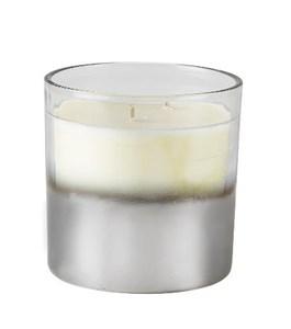 Image of   Duftlys D10 x 10 cm Sølv/klar Glas
