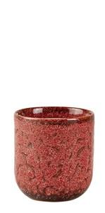 Image of   Duftlys D7 x 8 cm Mørk rosa Keramik