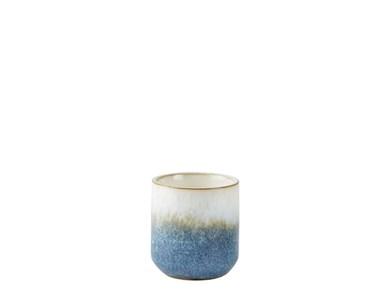 Image of   Duftlys D7 x 8 cm Blå/Sand Keramik