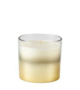 Image of   Duftlys D8 x 7 cm Guld/klar Glas