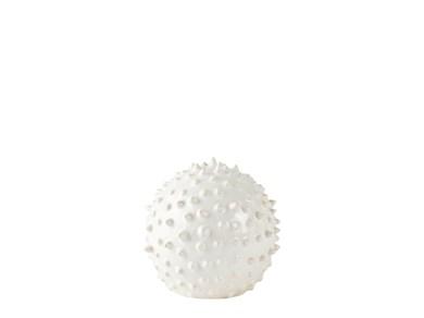 Image of   Figur - Kugle - Keramik - Hvid