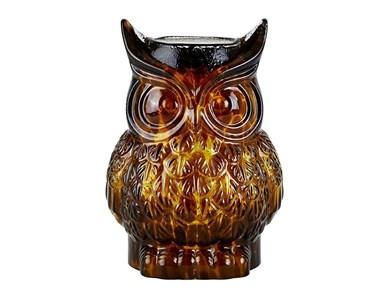 Image of   Figur - Ugle - Glas - Amber -