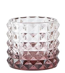Image of   Fyrfadsstage Glas Blomme D 10 cm. H 9 cm. Stk.
