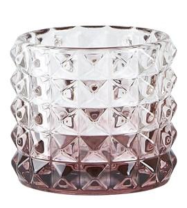 Image of   Fyrfadsstage Glas Blomme D 7,5 cm. H 6,5 cm. Stk.