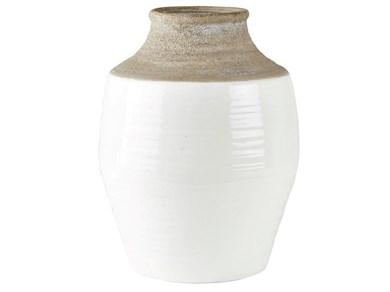 Image of   Gulvvase - Keramik - Hvid - Na