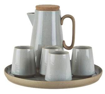 Image of   Kaffesæt - 6 dele - Terrakotta