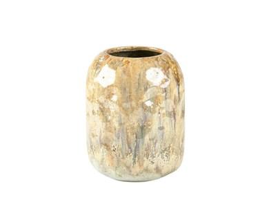 Image of   Vase 13,8x17 cm Sand/Lysblå Stentøj