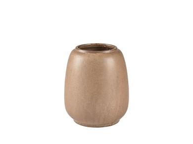 Image of   Vase D16 x 18,5 cm Brun Stentøj