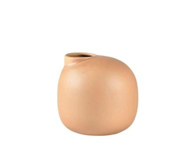 Image of   Vase D16,8 x 15,5 cm Lys brun Stentøj