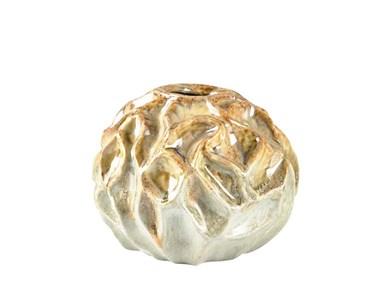 Image of   Vase 20x16 cm Sand/Lysblå Stentøj