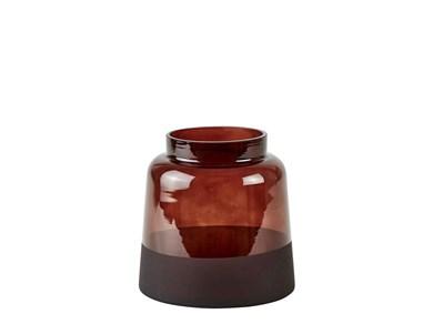 Image of   Vase - Glas - Brun - D 15,0cm
