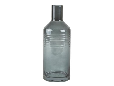 Image of   Vase - Glas - Grå - D 10,0cm -