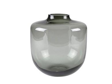 Image of   Vase 21 cm D20 cm Grå glas Vil
