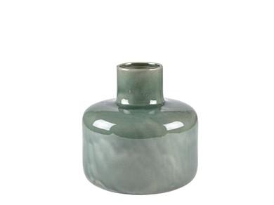 Image of   Vase 26 cm Ø26 cm grøn stentøj