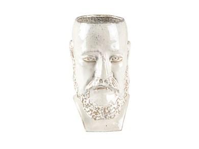 Image of   Vase/skjuler H26 cm Hvid Stentøj