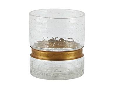 Image of   Drikkeglas - Glas - Metal - Kl