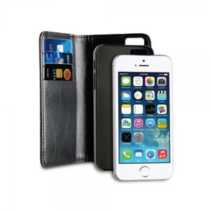 Image of   2in1 Wallet/Back Cover iPhone SE/5S Blk