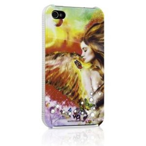 Image of   WHITE-DIAMONDS Cover iPhone 4/4s Engel