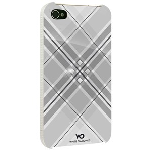 Image of   WHITE-DIAMONDS Cover iPhone 4/4s Grid Hvid
