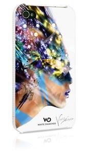 Image of   WHITE-DIAMONDS Cover iPhone 4/4s Nafrotiti Hvid