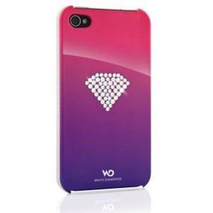 Image of   WHITE-DIAMONDS Cover iPhone 4/4s Rainbow Rosa