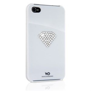 Image of   WHITE-DIAMONDS Cover iPhone 4/4s Rainbow Hvid