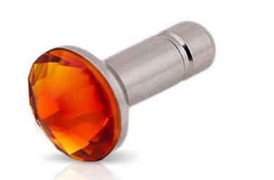 Image of   WHITE-DIAMONDS 3,5mm PIN Guld inkl iPhone4 glitterskærmfolie