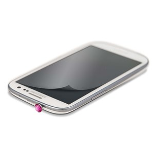 Image of   WHITE-DIAMONDS 3,5mm PIN Rosa inkl Sams.S3 glitterskærmfolie