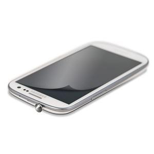 Image of   WHITE-DIAMONDS 3,5mm PIN Sort inkl Sams.S3 glitterskærmfolie