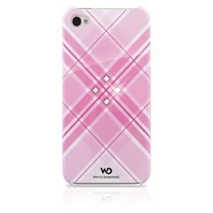 Image of   Cover iPhone 4/4s Grid Crystal + Pin 3,5mm Rosa