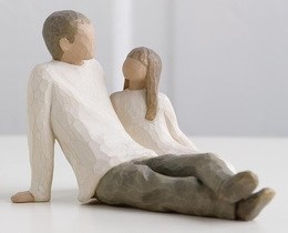 Image of   Father & Daughter H: 11.5 cm
